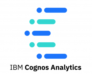 IBM cognos analytics official logo and title