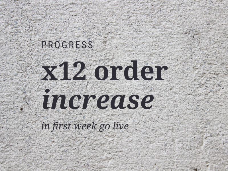x12 orders text