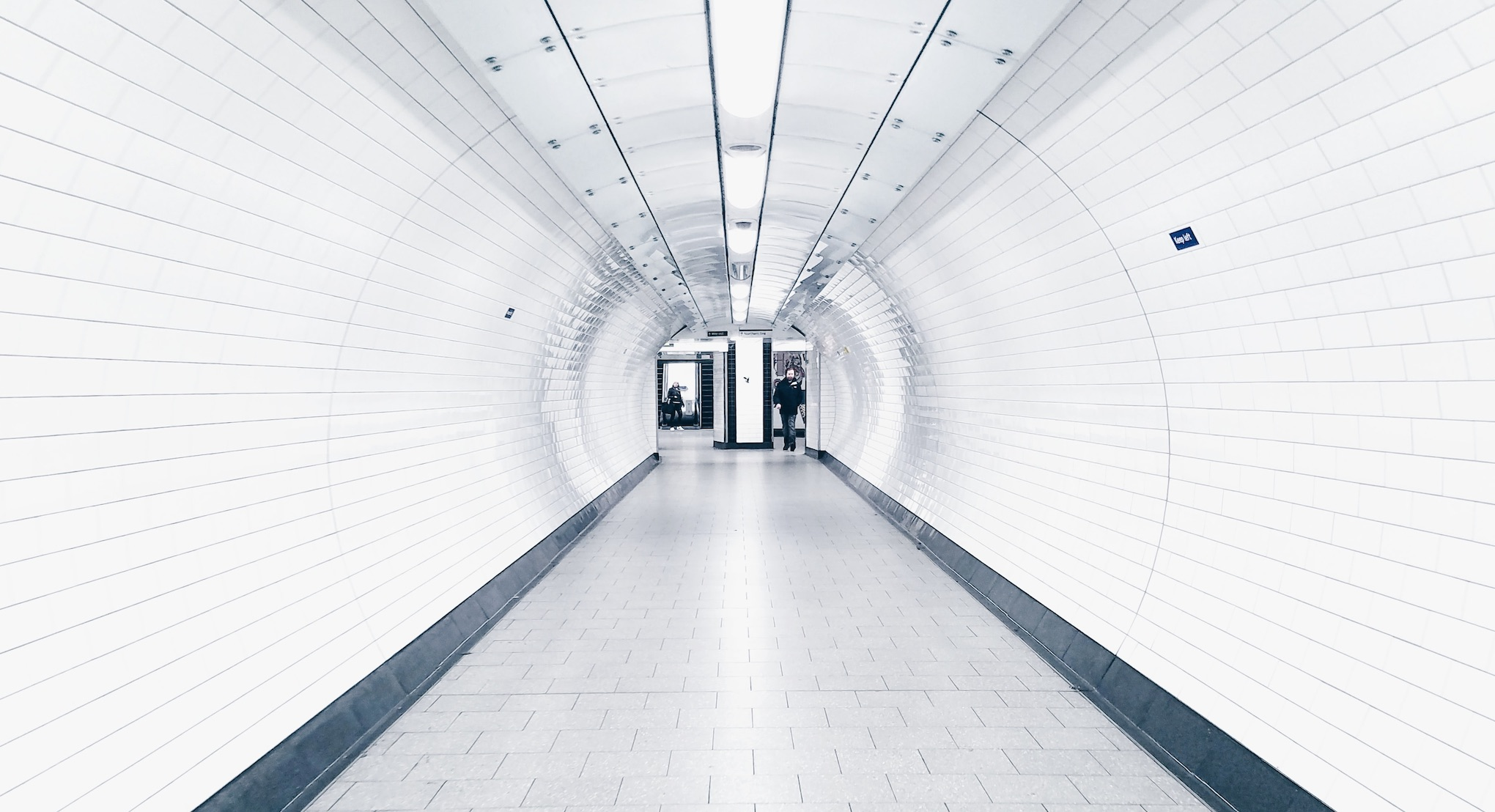 white-brick-tube-tunnel