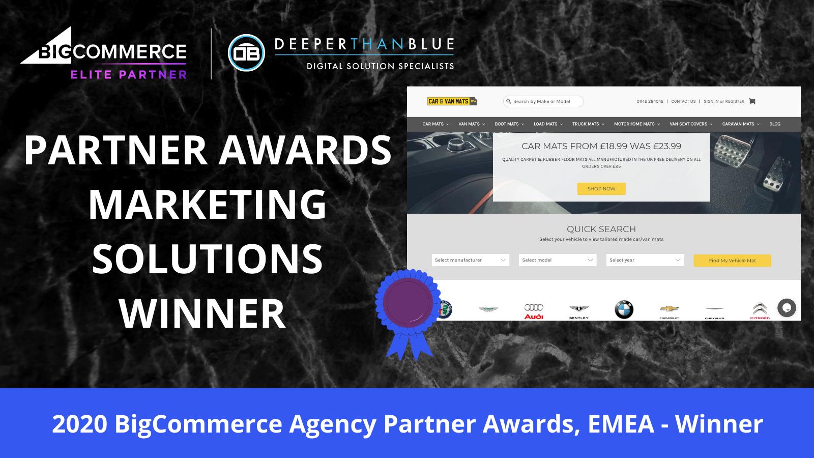 BigCommerce partner awards winner 2020 DeeperThanBlue